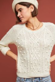 Pommed Cable-Knit Sweater via Anthropologie