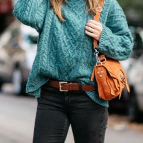 Chunky knit tucked via amongotherthings