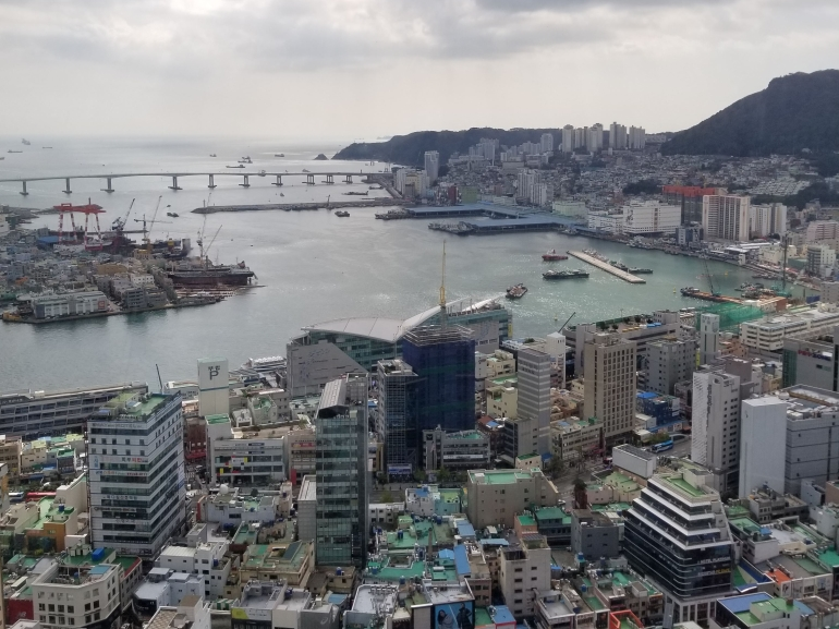 View from Busan Tower, Busan South Korea